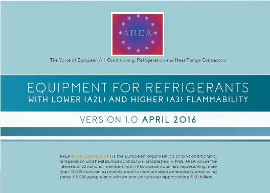 AREA Equipment of Alternative Refrigerants with Lower and Higher Flammability
